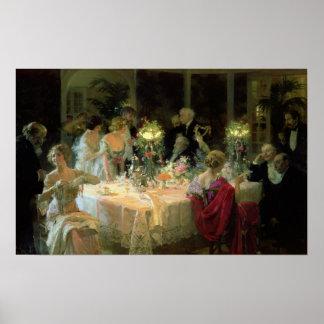 El extremo de Dinner, 1913 Póster