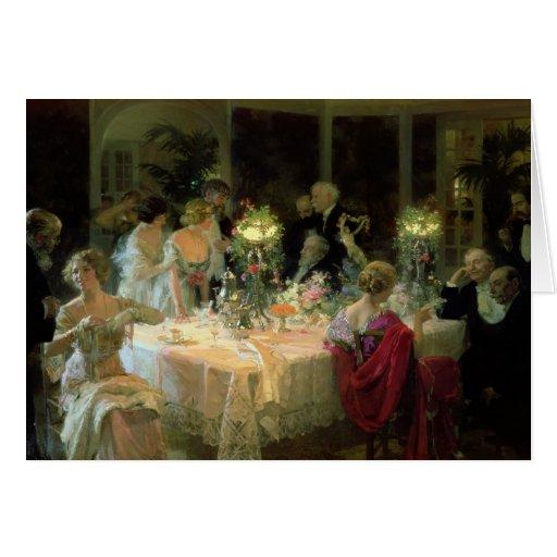 El extremo de Dinner, 1913 Tarjetón
