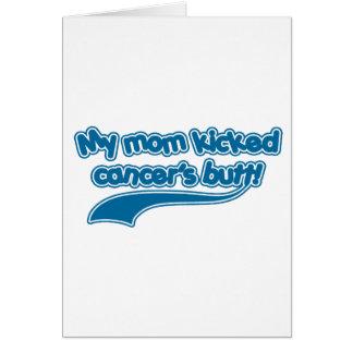 El extremo de mi cáncer golpeado con el pie mamá tarjeta