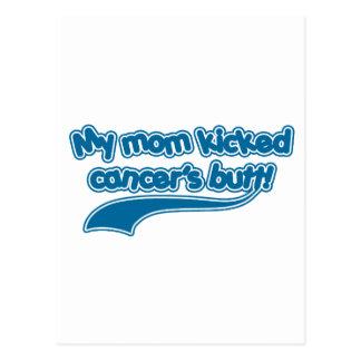El extremo de mi cáncer golpeado con el pie mamá tarjeta postal