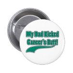 ¡El extremo de mi cáncer golpeado con el pie papá! Pin