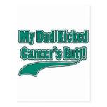 ¡El extremo de mi cáncer golpeado con el pie papá! Postal
