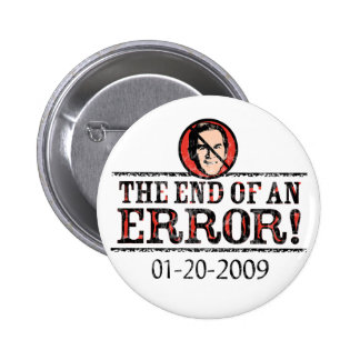 El extremo de un botón del error pins