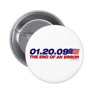 El extremo de un botón del error pin redondo de 2 pulgadas