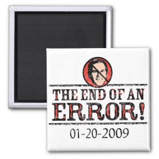 El extremo de un imán del error