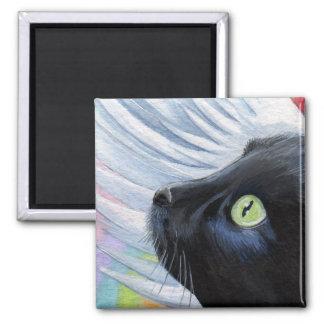 El extremo del arco iris - imán con alas del gato