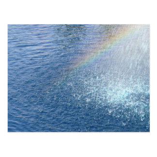 El extremo del arco iris tarjeta postal