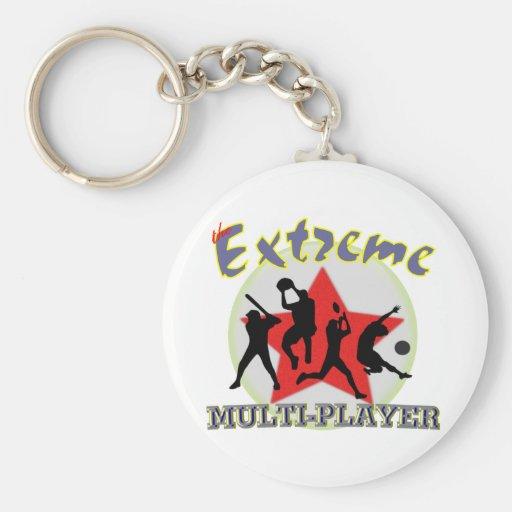 El extremo multijugador llaveros personalizados