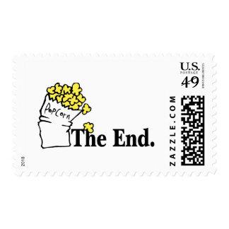 El extremo (palomitas) sellos postales