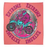 El extremo rosado flamea pañuelo de la bici de la  bandana