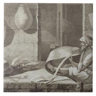 El fabricante de cesta, de los artes y de los come azulejo cuadrado grande