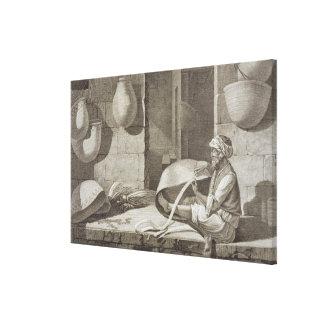 El fabricante de cesta, de los artes y de los come impresiones en lona estiradas