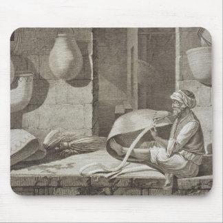 El fabricante de cesta, de los artes y de los come tapetes de ratón