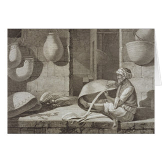 El fabricante de cesta, de los artes y de los come tarjeta de felicitación