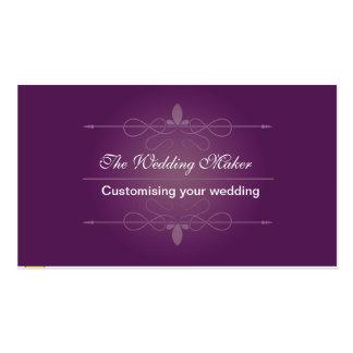 El fabricante del boda tarjeta de visita