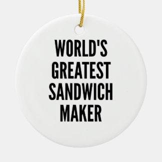 El fabricante más grande del bocadillo de los adorno navideño redondo de cerámica