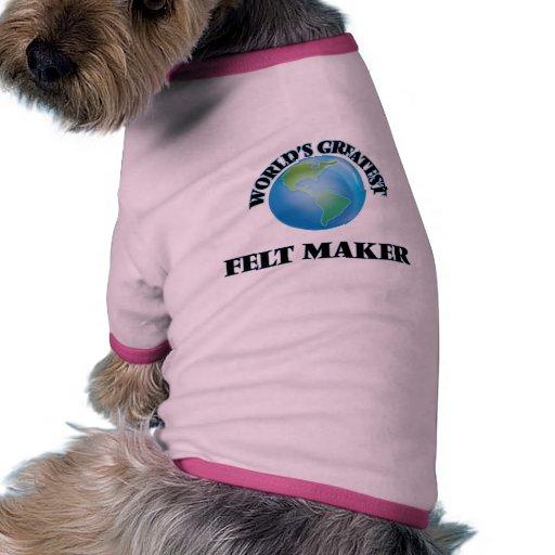 El fabricante más grande del fieltro del mundo ropa de perro