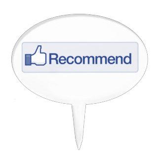 el facebook recomienda el icono gráfico divertido  figura para tarta