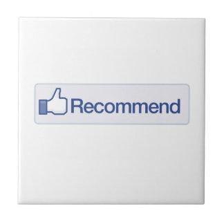 el facebook recomienda el icono gráfico divertido  tejas