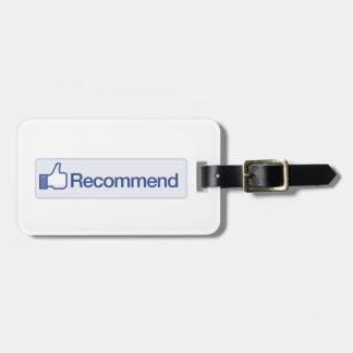 el facebook recomienda el icono gráfico divertido  etiquetas bolsa