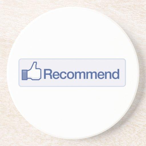 el facebook recomienda el icono gráfico divertido  posavasos cerveza