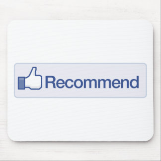 el facebook recomienda el icono gráfico divertido  tapete de ratón