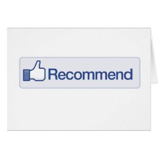el facebook recomienda el icono gráfico divertido  tarjeta de felicitación