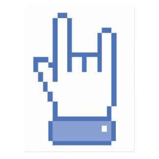 el facebook tiene gusto del pixel de la muestra de tarjeta postal