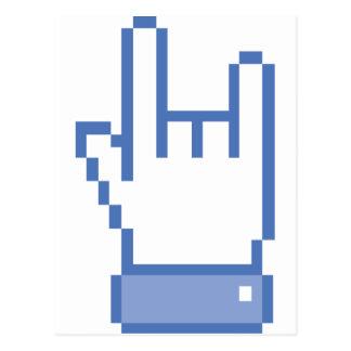 el facebook tiene gusto del pixel de la muestra de postales