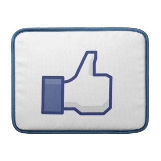 el facebook TIENE GUSTO del pulgar encima de la ma Fundas Para Macbook Air