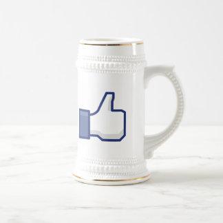 el facebook TIENE GUSTO del pulgar encima de la ta Tazas De Café