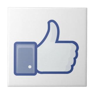 el facebook TIENE GUSTO del pulgar encima del gráf Azulejo Cuadrado Pequeño
