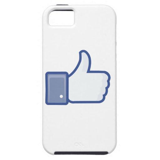 el facebook TIENE GUSTO del pulgar encima del gráf iPhone 5 Case-Mate Carcasas