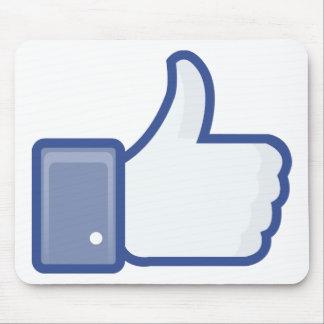 el facebook TIENE GUSTO del pulgar encima del gráf Mouse Pads