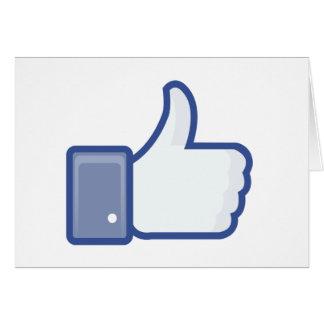 el facebook TIENE GUSTO del pulgar encima del gráf Tarjeta De Felicitación