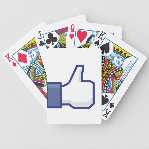 el facebook TIENE GUSTO del pulgar para arriba Baraja De Cartas