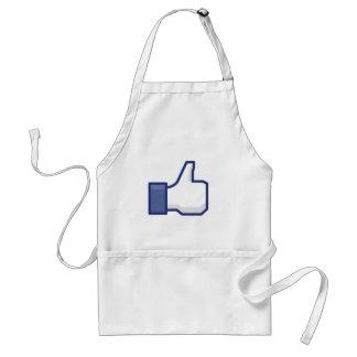 el facebook TIENE GUSTO del pulgar para arriba Delantales