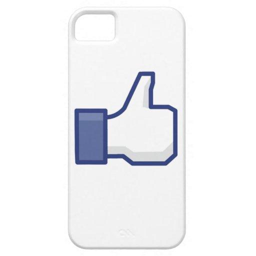 el facebook TIENE GUSTO del pulgar para arriba iPhone 5 Fundas