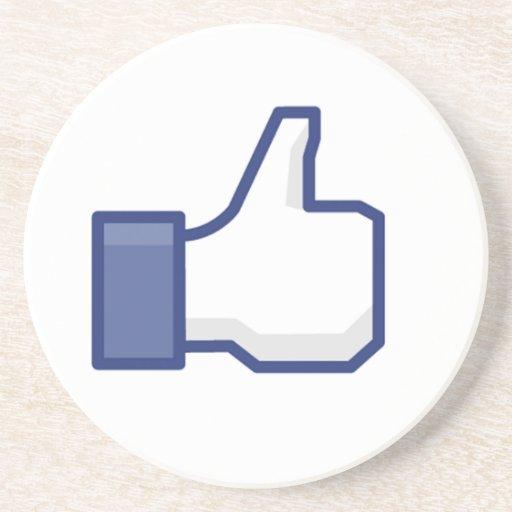 el facebook TIENE GUSTO del pulgar para arriba Posavasos Personalizados