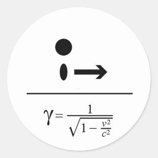 El factor de Lorentz Pegatinas Redondas