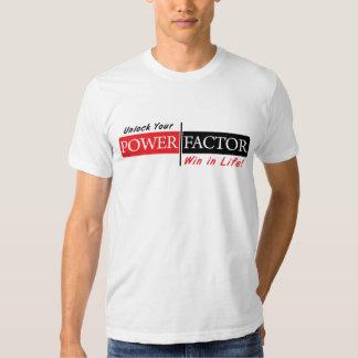 El FACTOR de PODER relaja la camiseta (blanca) Polera