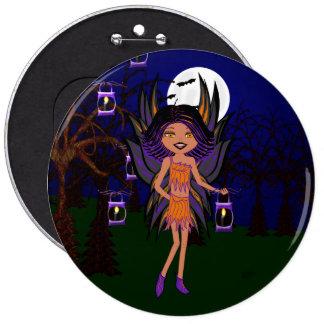 El Faery gótico Phoenix de Halloween santifica el  Pin Redondo De 6 Pulgadas