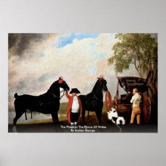 El faetón el Príncipe de Gales de Stubbs George Poster