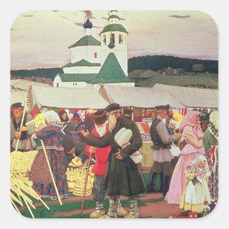 El Fair, 1906 Pegatina Cuadrada