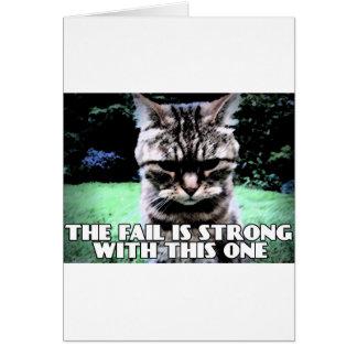 El fall es fuerte con éste tarjeta de felicitación