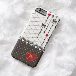 El falso brillo del oro del cordón de moda lindo funda de iPhone 6 barely there