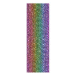 El falso brillo fino chispea arco iris brillante tarjeta de visita
