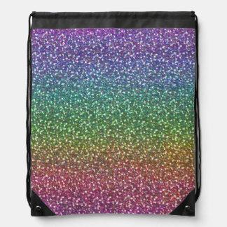 El falso brillo grande chispea color brillante del mochila