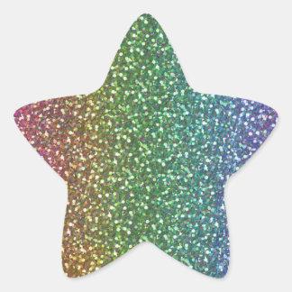 El falso brillo grande chispea color brillante del calcomanía forma de estrella