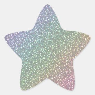 El falso brillo grande chispea perla brillante del colcomanias forma de estrellaes personalizadas